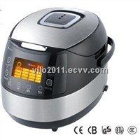 Digital Display 1.8liter(2-10persons) 860Watt Square Multifunction Rice Cooker