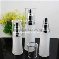 Elegant White Acrylic Cream Bottle for Facial Care Lotion