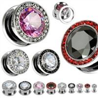 Fashionable ear plugs jewelry with diamond expanders body jewelry