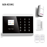 GSM 99 guard zone wireless security home alarm with touch keyboard (KR-8218G)