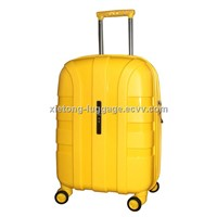 Hot Sale Traveler's Choice Yellow PP Injection Trolley Zipper Hard Shell Case  Set