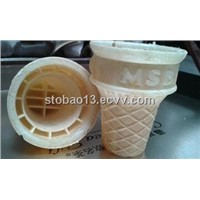 Low flat wafer cone