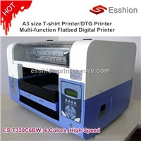 NEW 6 colors A3 size Direct To Garment T-shirt printer /digital inkjet flatbed printer