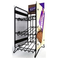 Permanent counter top metal display rack