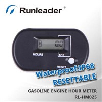 RL-HM025 Resettable Waterproof Inductive Hour Meter For Gasoline Engine,Turf rakes