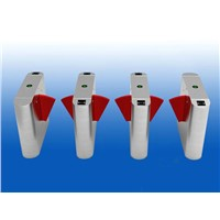 Red Acrylic Flap Barrier Gate for entrance control