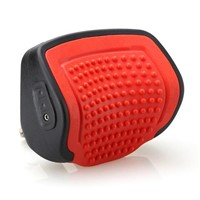 Red Color PU Pull-Push Car Headrest Massager