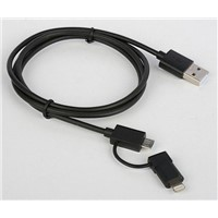 USB to micro usb + Apple Lightning 8pin to Micro USB Adapter