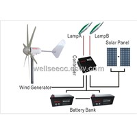 WELLSEE Wind Turbine (6 Blades horizontal axis wind generator)WS-WT400W