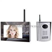 Wireless Video Door Phone, 2.4GHz Digital, 7-inch LCD Touch Button Monitor Screen, 300m Distance