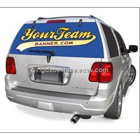 anti-fading bumper sticker on car boday or wall