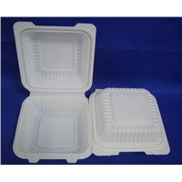 disposable biodegradable cornstarch clamshell takeout box
