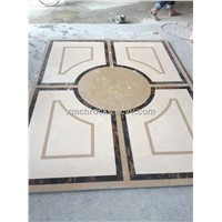 Marble Water-Jet Mosaic Pattern, Water Jet Medallion