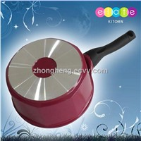 small saucepan with long handle for heating milk