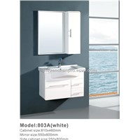 white Modern PVC bathroom cabinet,wall bathroom cabinet BL-803A