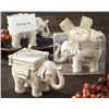 "Lucky Elephant"" Antique Ivory-Finish Tea Light Holder centerpieces wedding party gift wedding"