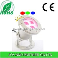 24V Stainless Steel Tricolor LED Underwater Lighting with Round Base
