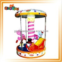 2014 arcade kid ride amusement game machine HR-QF010 Pony Carousel