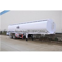 55CBM 3 axles aluminum alloy fuel/gasoline/oil delivery semi-trailer