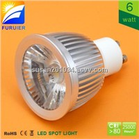6W AC COB GU10 LED Spotlight without driver
