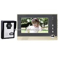 7 inches Color LCD Video Door Phone doorbell