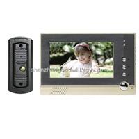 7 inches Color LCD Video intercom doorbell  Door Phone