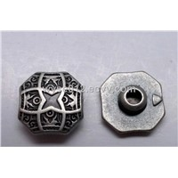 Alloy rivet with roll plating