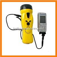 Cranking Flashlight Charger for Mobile Phone