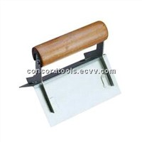 External conner trowel with wooden handle