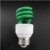 Green Color Half Spiral Energy Saving Lamp