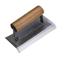 Internal corner trowel with wooden handle