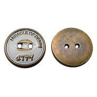 Metal Alloy Sewing Button with Enamel