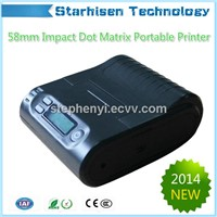 New 58mm Impact Dot matrix Mobile Bluetooth Printer USB+Bluetooth for Android&iOS EPSON Mechanism