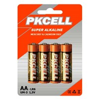 PKCELL Super Alkaline Battery LR6 AA size