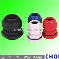IP 68 PG type Nylon cable gland to fix cable range 3-40mm for electrical control box, machine,