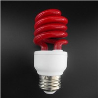 Red Color Half Spiral Energy Saving Lamp