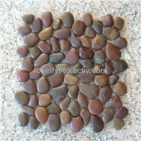 Red Pebble Mosaic Tiles