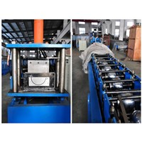 Seamless Half Round Gutter Roll Forming Machine For Run Copper , Aluminum Or Steel