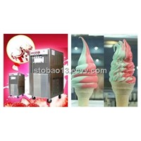 Soft ice cream machine in ice cream store