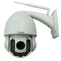 Sricam HD 1.0 MegaPixel Outdoor Waterproof P2P 5x Optical Zoom Wireless Security Camera