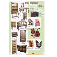 Table chairs cabinet  furniture set