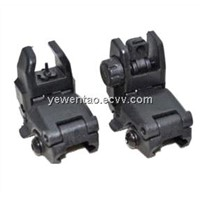 Tactical Gear Military Front and Rear Back-up Sight Set Black