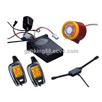 Two Way LCD Pager Motorcycle Alarm with Microwave Sensor (FSK 3000m long range)