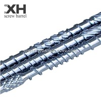 Wire and cable extruder screw barrels