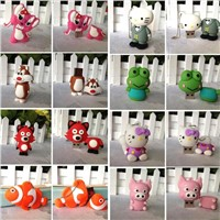 custom usb storage device 4gb/8gb/16gb/32gb bulk cartoon flash drive flash memory stick flashdrivers