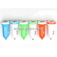 Low Price&Top Quality 5V3.1A Mini Colorful USB Car Charger for iPhone/Samsung/Blackberry/HTC-ECCR04