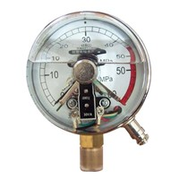 magnetic electric contact pressure gauge with stainless steel material