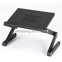 mini light weight foldable aluminum computer table with usb fan