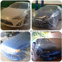one time clear car cover
