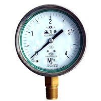 pressure gauge with stainless steel case and oil